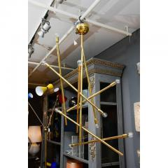 Modernist Brass Chandelier with Eight Lights - 729397