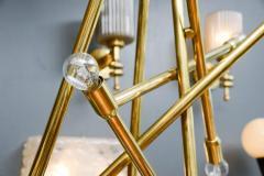 Modernist Brass Chandelier with Eight Lights - 729400