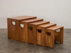 Modernist Crafted Oak Nesting Tables - 2102212