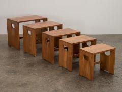 Modernist Crafted Oak Nesting Tables - 2102213