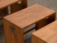 Modernist Crafted Oak Nesting Tables - 2102214