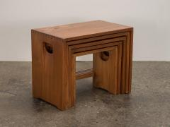 Modernist Crafted Oak Nesting Tables - 2102216