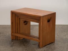 Modernist Crafted Oak Nesting Tables - 2102217