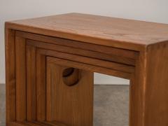 Modernist Crafted Oak Nesting Tables - 2102218
