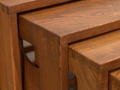 Modernist Crafted Oak Nesting Tables - 2102219