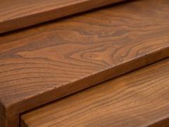 Modernist Crafted Oak Nesting Tables - 2102220