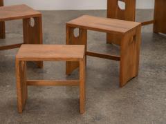 Modernist Crafted Oak Nesting Tables - 2102221
