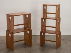 Modernist Crafted Oak Nesting Tables - 2102222