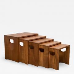 Modernist Crafted Oak Nesting Tables - 2106165