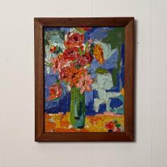 Modernist Floral Still Life Oil Painting - 1629304