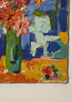 Modernist Floral Still Life Oil Painting - 1629305