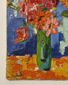Modernist Floral Still Life Oil Painting - 1629307