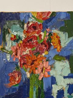 Modernist Floral Still Life Oil Painting - 1629308