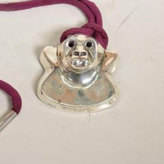 Modernist Gorilla Pendant In Sterling by Brusca Dante NYC 1976 - 906799