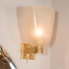 Modernist Handblown Murano Glass 24kt Gold Sconces - 1579027