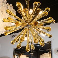Modernist Handblown Murano Smoked Honey Glass Sputnik with Brass Fittings - 1560010