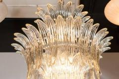 Modernist Three Tier Palma Chandelier in Murano Glass and Brass Fittings - 1560418