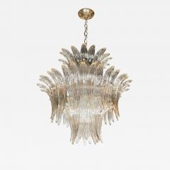 Modernist Three Tier Palma Chandelier in Murano Glass and Brass Fittings - 1563226