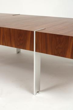 Modernist Walnut Coffee Table 1980s - 1184344