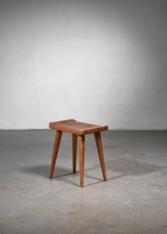 Modernist stool in old pine wood - 1702337