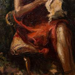 Mogens Christian Vantore Vintage Oil Painting the Artists Wife in the Garden by Mogens Vantore - 1067647