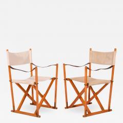 Mogens Koch Pair of Mogens Koch Mk 16 Folding Chairs - 2086748