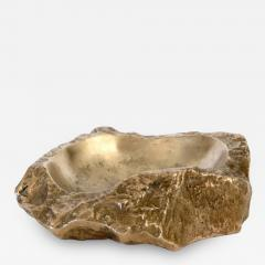 Monique Gerber MONIQUE GERBER LARGE BRONZE VIDE POCHE OR ASHTRAY IN ROCK FORM - 1220421