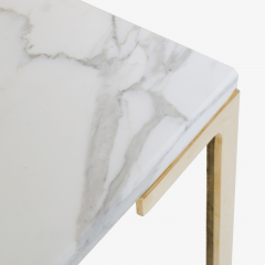 Montage Astor Brass Occasional Tables in Carrara Marble by Montage Pair - 370307