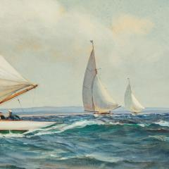 Montague Dawson Montague Dawson Racing Six Metre yachts - 2109659