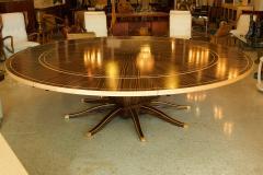 Monumental Art Deco Style Zebrawood and Lemonwood Extension Dining Table - 1130520