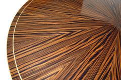 Monumental Art Deco Style Zebrawood and Lemonwood Extension Dining Table - 1130522