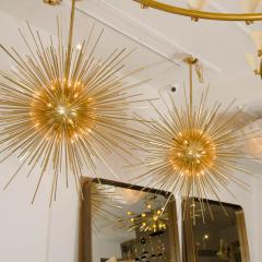 Monumental Brass Sputnik Chandelier - 69564