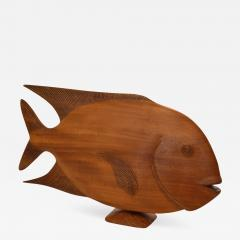 Monumental Brazilian Wood Sculpture Carving of a Tropical Fish - 673998