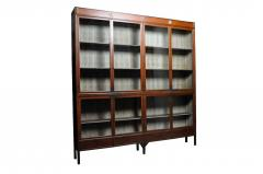 Monumental British Colonial Teak Wood Bookcase - 1653604