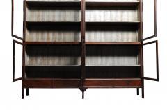 Monumental British Colonial Teak Wood Bookcase - 1653605