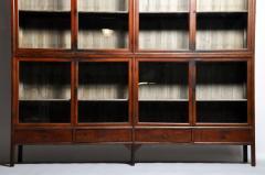 Monumental British Colonial Teak Wood Bookcase - 1653611