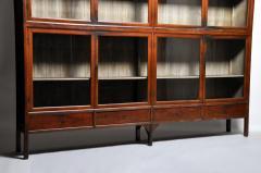 Monumental British Colonial Teak Wood Bookcase - 1653614