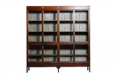 Monumental British Colonial Teak Wood Bookcase - 1653647