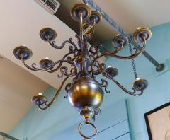 Monumental Bronze Two Tier Chandelier with Twelve Arms - 1776435