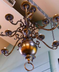 Monumental Bronze Two Tier Chandelier with Twelve Arms - 1776436
