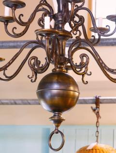 Monumental Bronze Two Tier Chandelier with Twelve Arms - 1776437