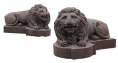 Monumental Carved Stone Lions from the Decker Mansion in Montgomery PA - 126132