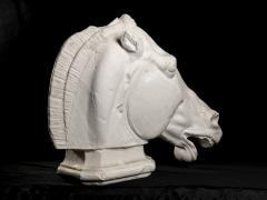Monumental Cast Sculpture of Horse Head After the Antique at British Museum - 2137076