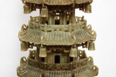 Monumental Chinese Green Translucent Jade Carved Pagoda Censer 19th Century - 936503