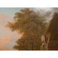 Monumental Framed Oil on Canvas Pastural Landscape - 1532631