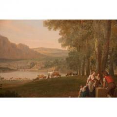 Monumental Framed Oil on Canvas Pastural Landscape - 1532632