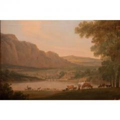 Monumental Framed Oil on Canvas Pastural Landscape - 1532633