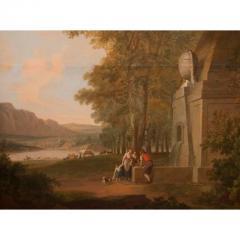 Monumental Framed Oil on Canvas Pastural Landscape - 1532635