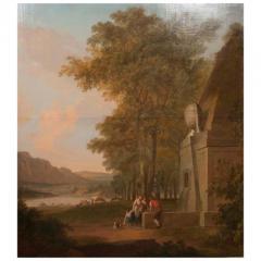 Monumental Framed Oil on Canvas Pastural Landscape - 1532636