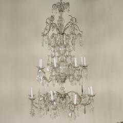 Monumental Italian Cut Glass and Crystal Sixteen Light Chandelier - 525452